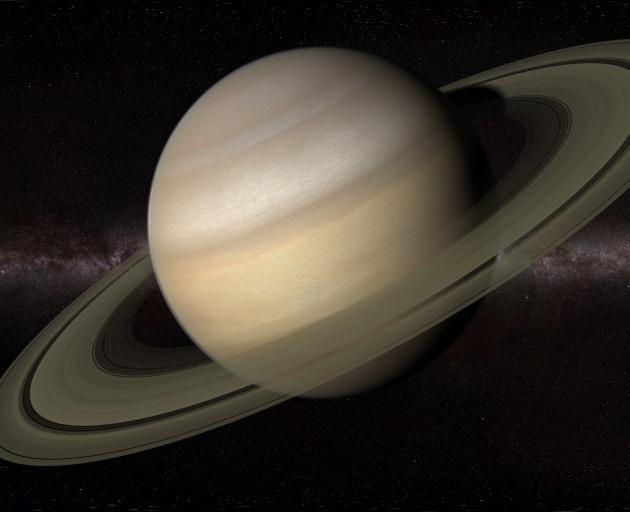 Although Saturn is much dimmer than Jupiter, it will be easy to pick out as a bright yellow...