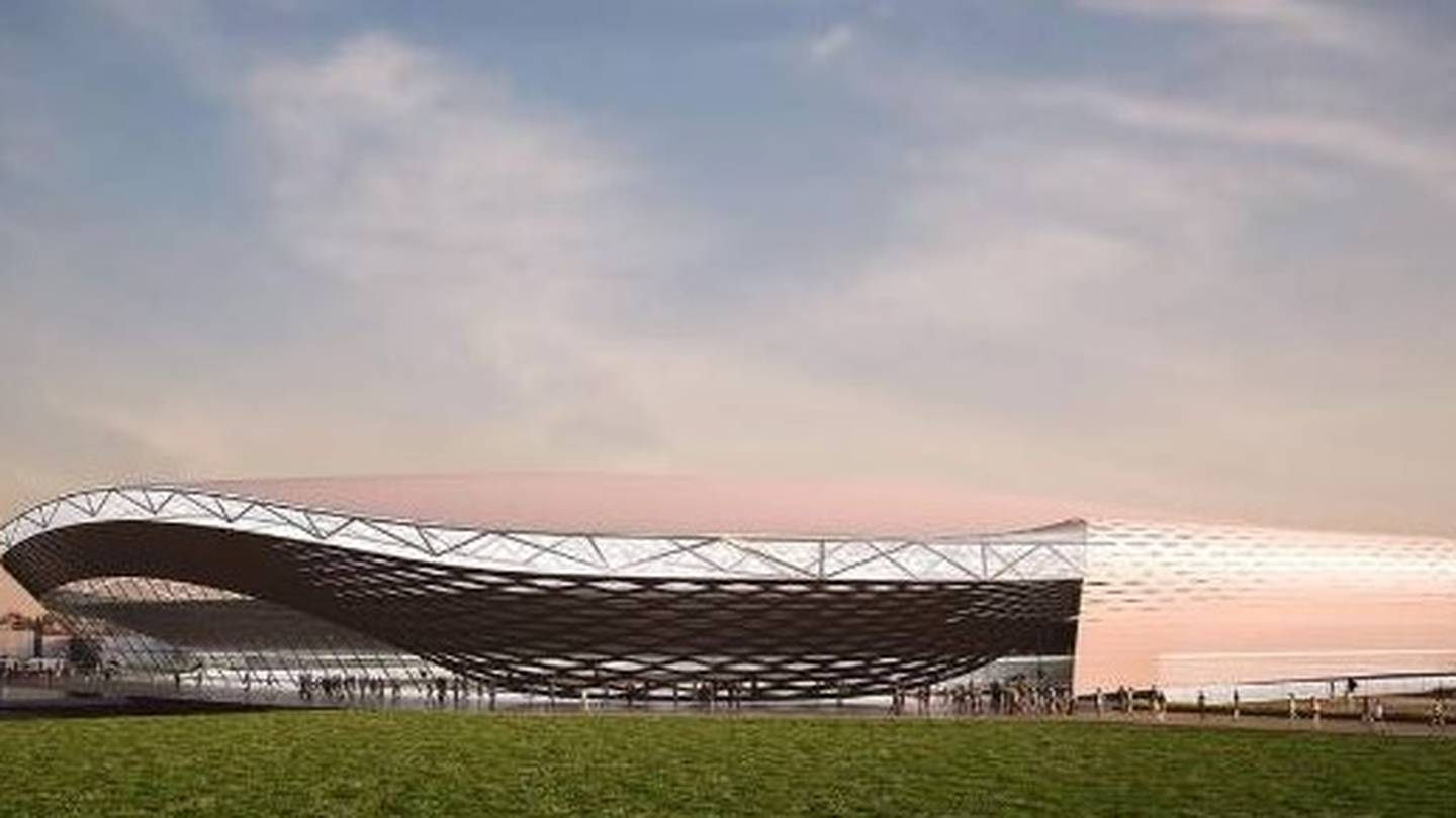 An artist's impression of the Christchurch multi-use stadium. Photo: Supplied