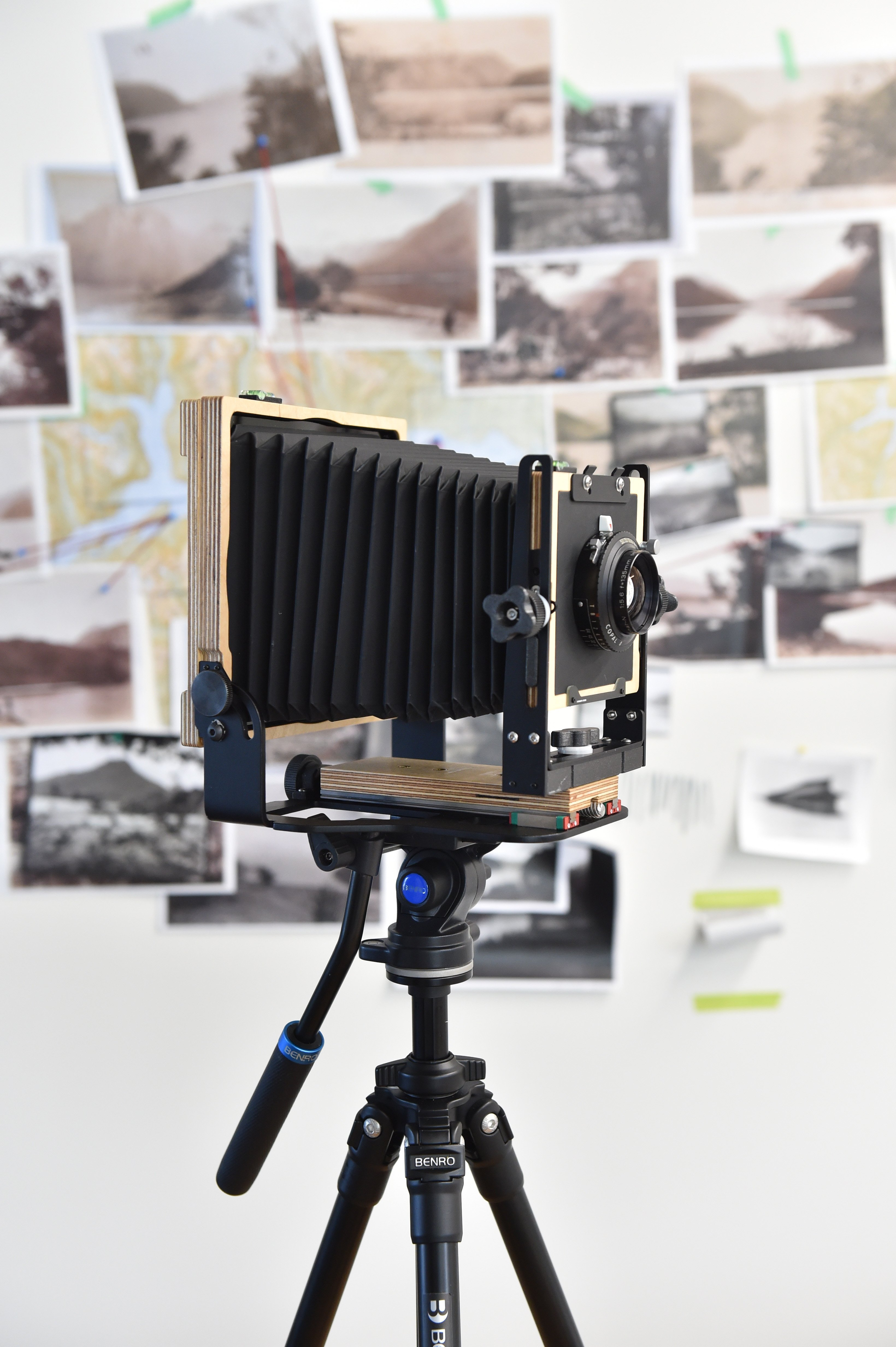 The 4x5 camera she used to take her photographs in Fiordland.