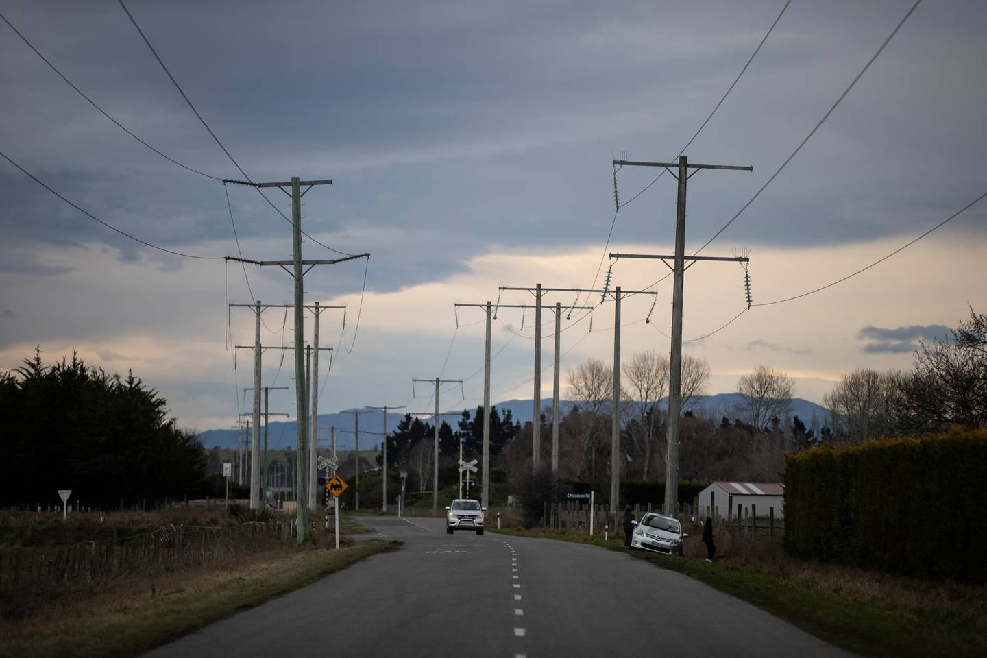 The country road where the crash happened last Saturday night. Photo: NZ Herald