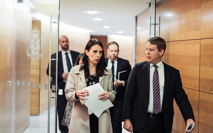 Prime Minister Jacinda Ardern and Covid-19 Response Minister Chris Hipkins. Photo: RNZ