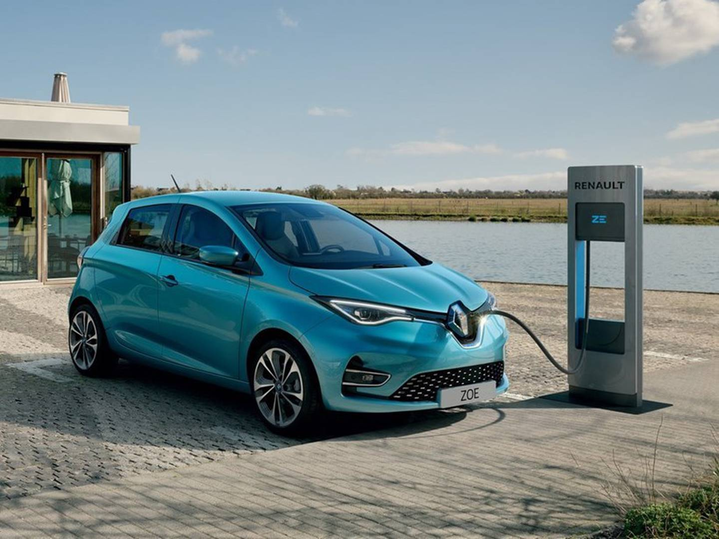 A Renault Zoe EV (electric vehicle), similar to the one purchased by the Lindsays. Photo / Driven