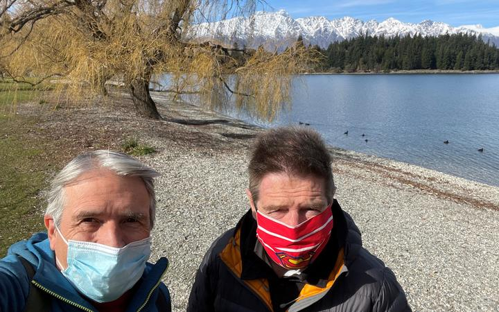 Gisborne doctors, consultant respiratory physician Dr Peter Brown, left, and consultant...