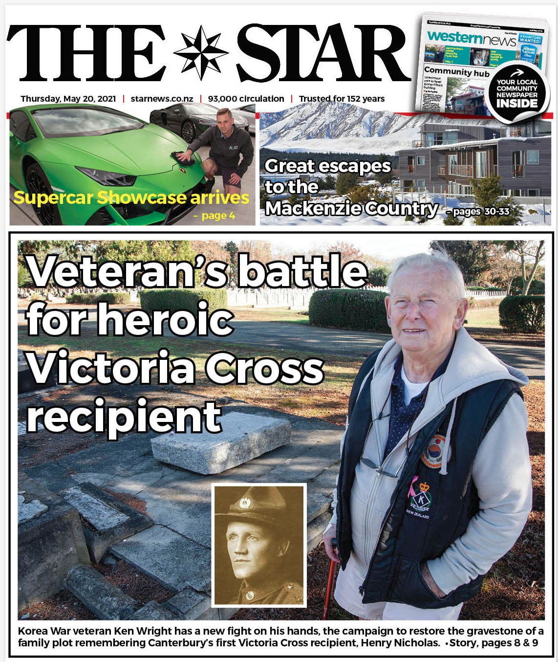 The Star front page on May 20.