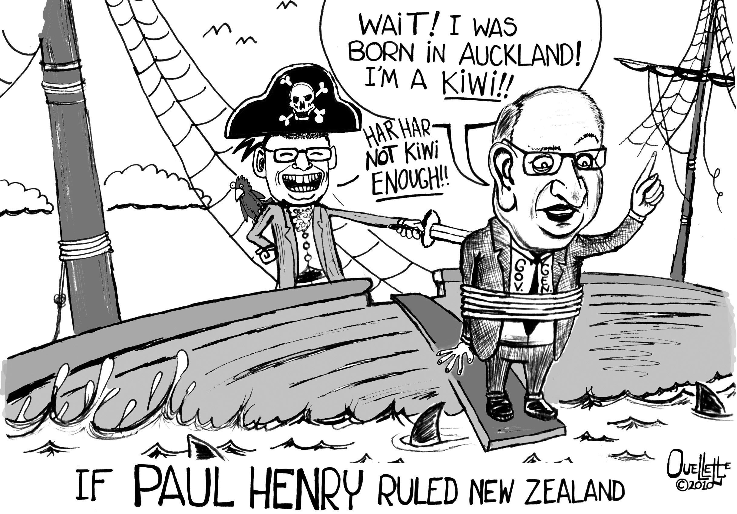 This 2010 cartoon highlights racist comments by television personality Paul ...
