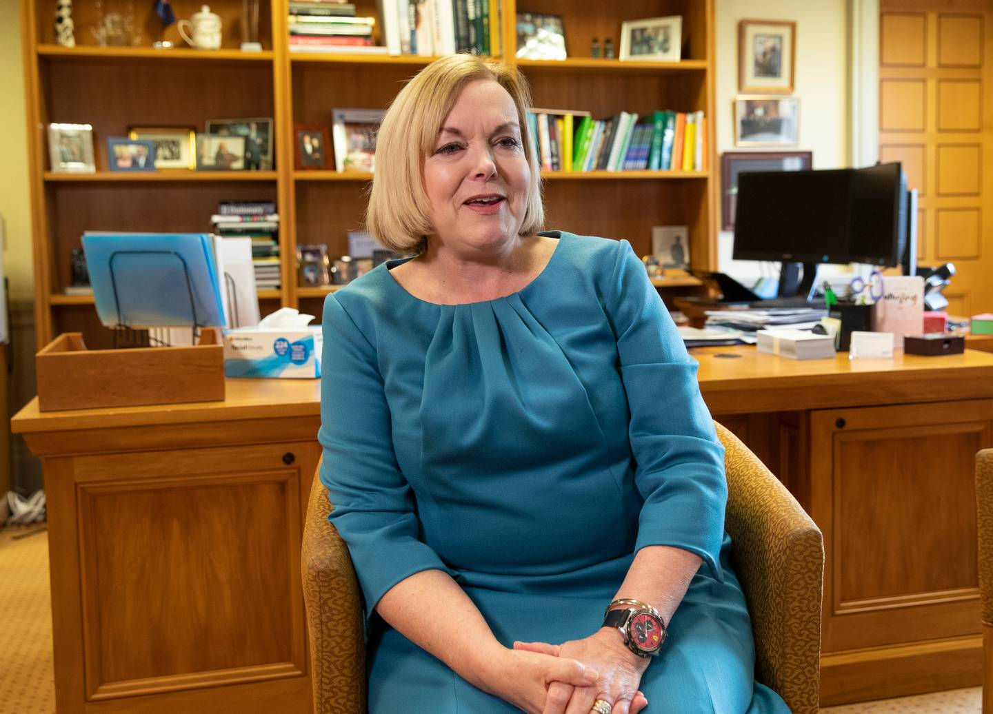 National Party leader Judith Collins says there should be a national vaccination target. Photo:...