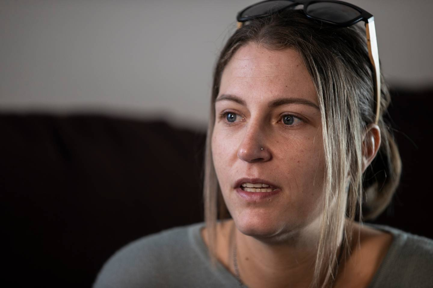 Melissa Bryce was one of the first on the scene. Photo: NZ Herald