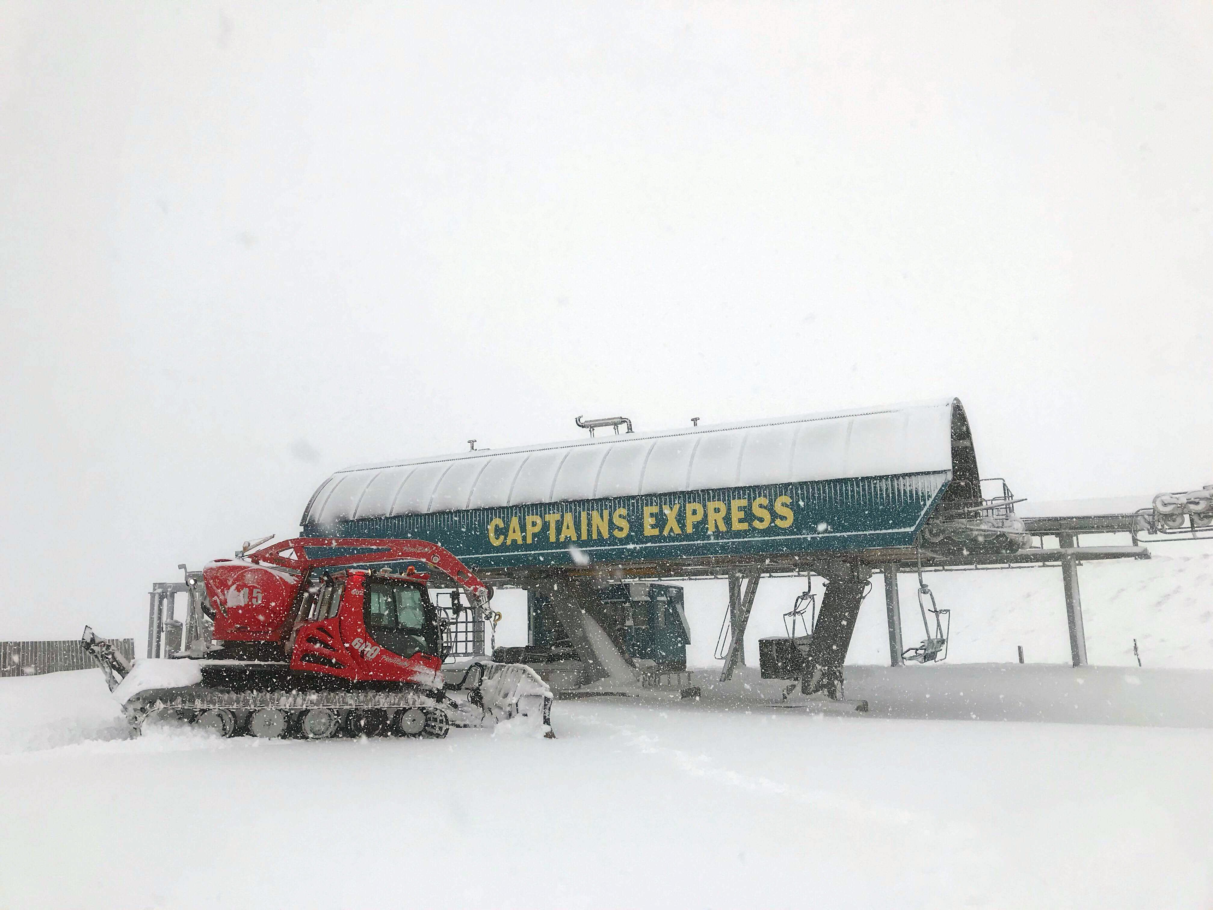 The Captains Express chairlift from which Auckland woman Janette Adams fell. PHOTO: ODT FILES