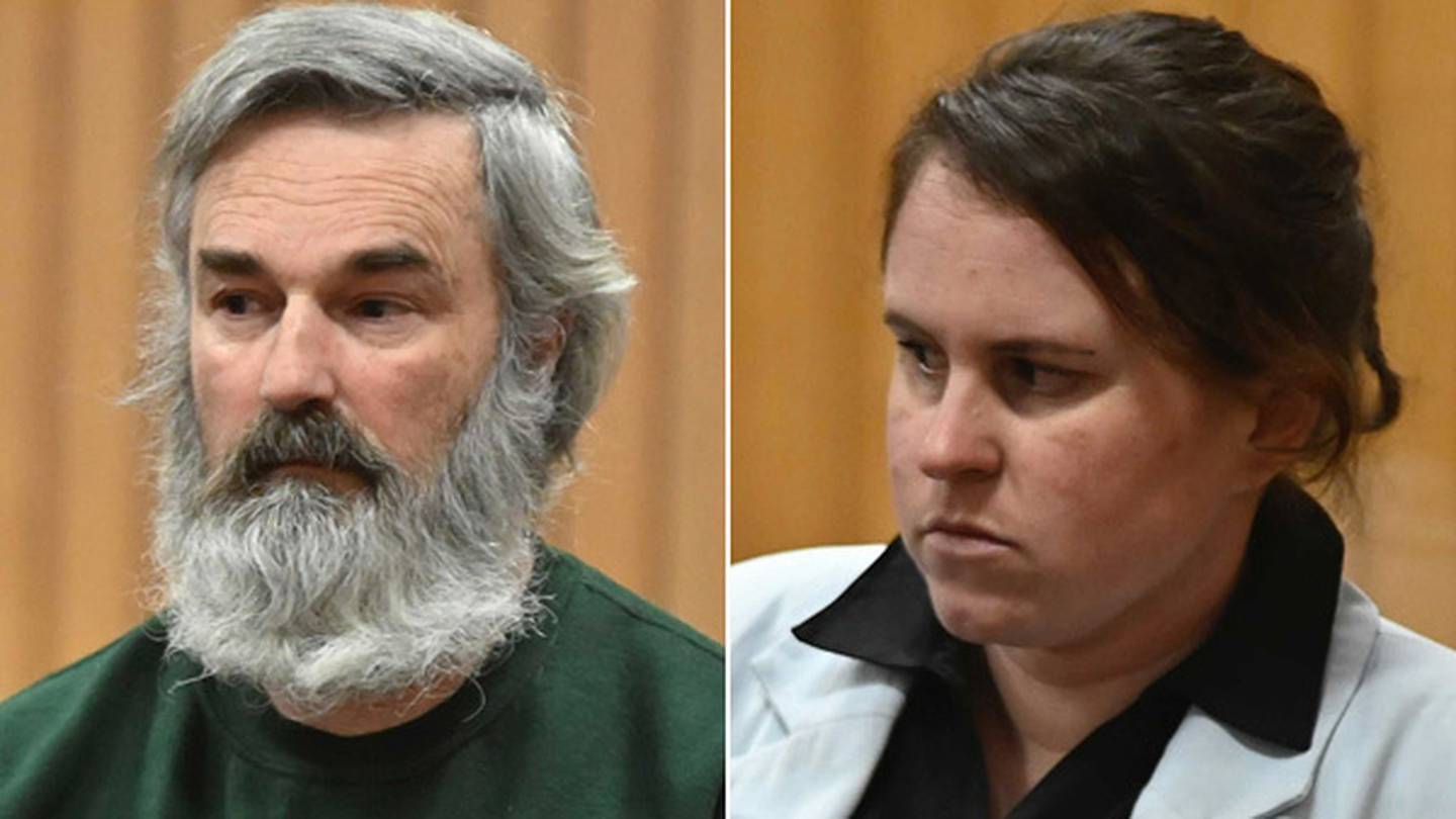 Laken Maree Rose (right) and Andrew Alan Williams (left) appear at the High Court in Rotorua for...