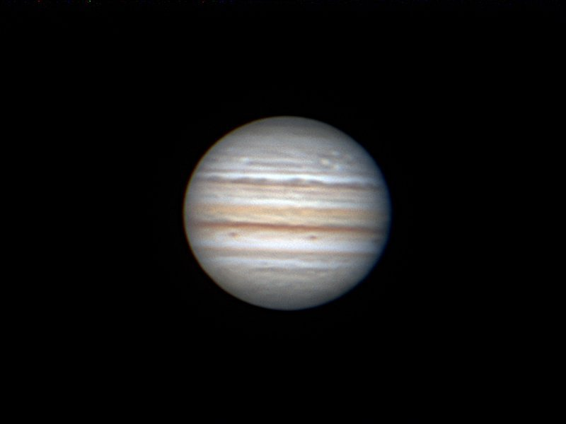 Jupiter, taken from Ian Griffin's observatory recently. PHOTO: IAN GRIFFIN