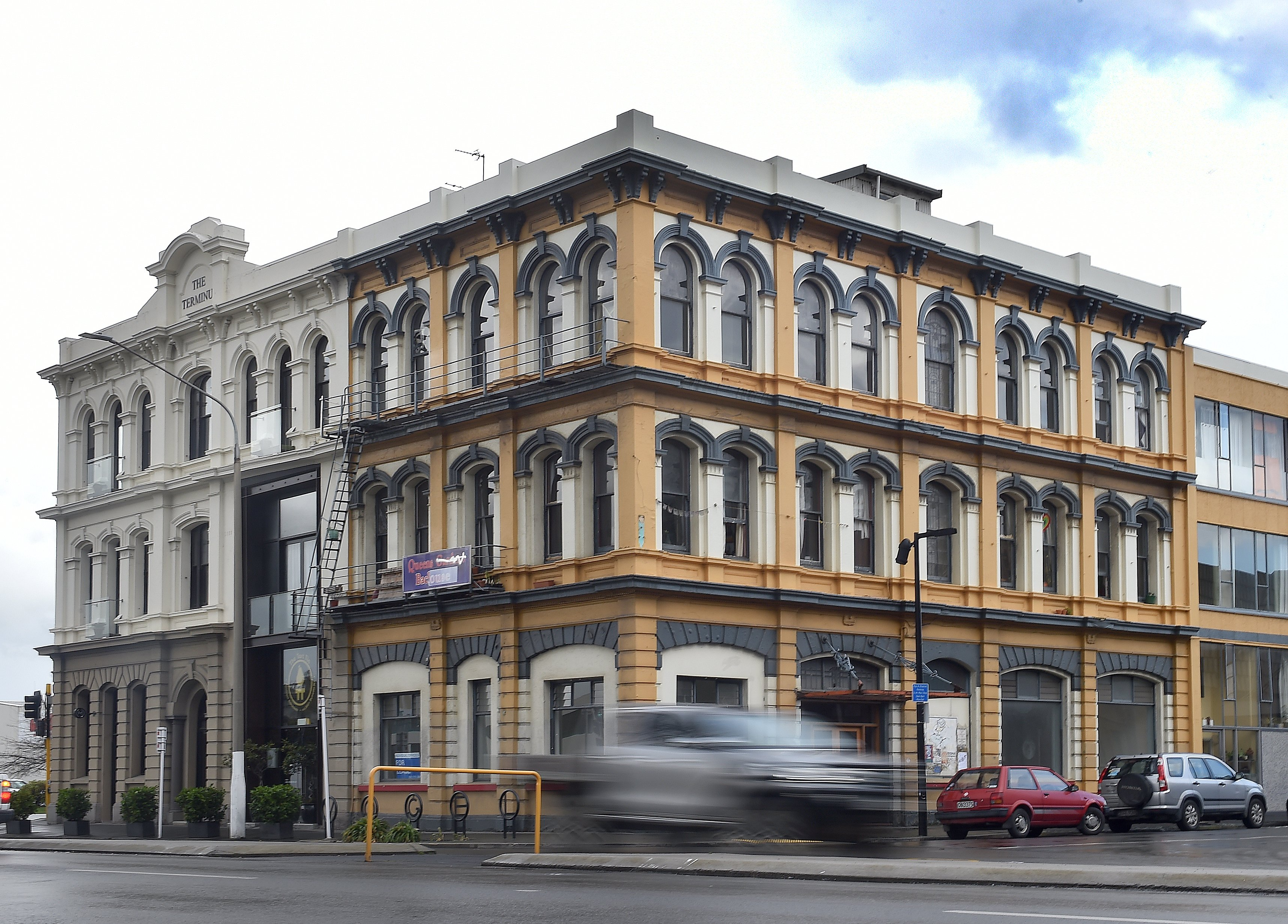 The building at the intersection of Vogel St and Queens Gardens. PHOTO: PETER MCINTOSH