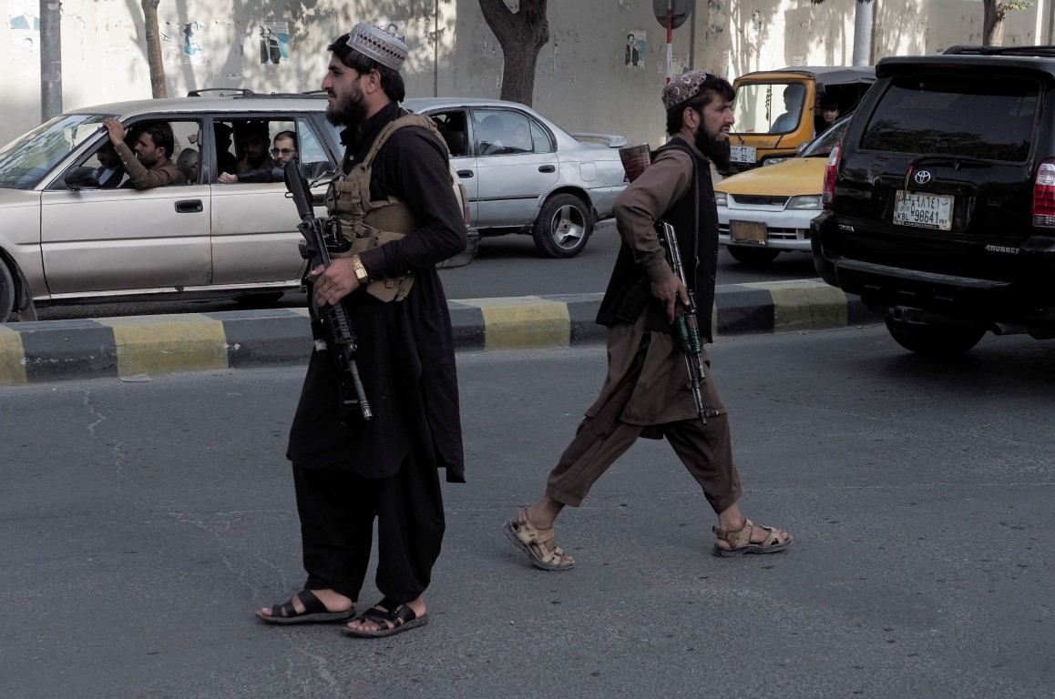 Taliban fighters guard a check-point in Afghanistan. File photo: Reuters