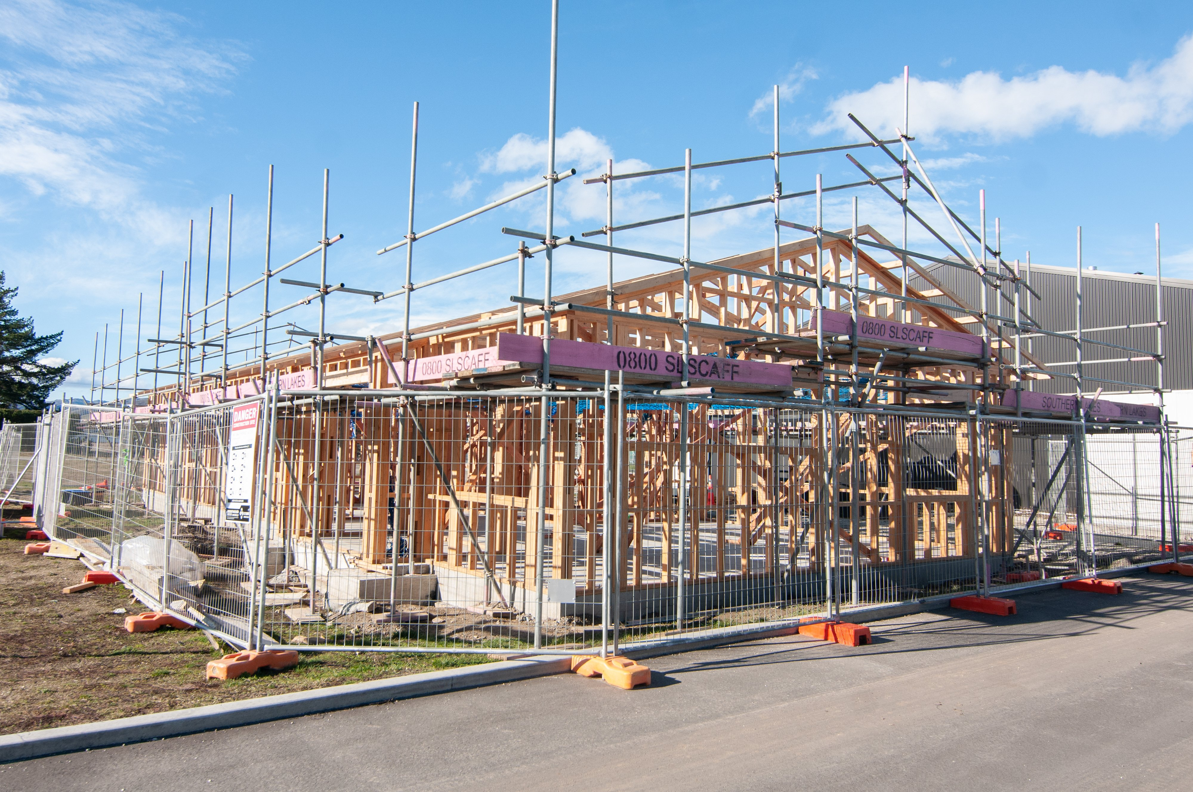 The new administration block at the Otago Polytechnic Central Campus in Cromwell is being put up...
