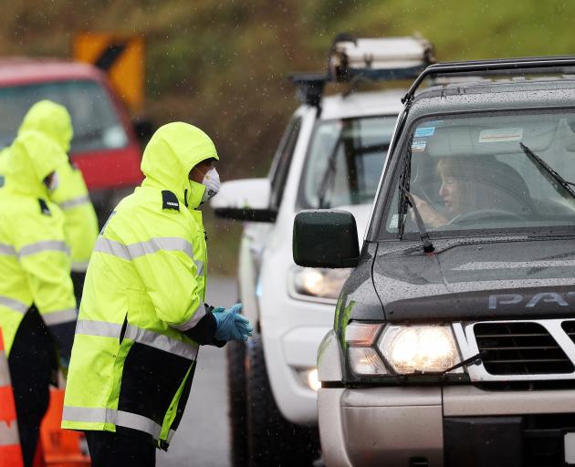 A checkpoint north of Auckland earlier this year. PHOTO: GETTY IMAGES