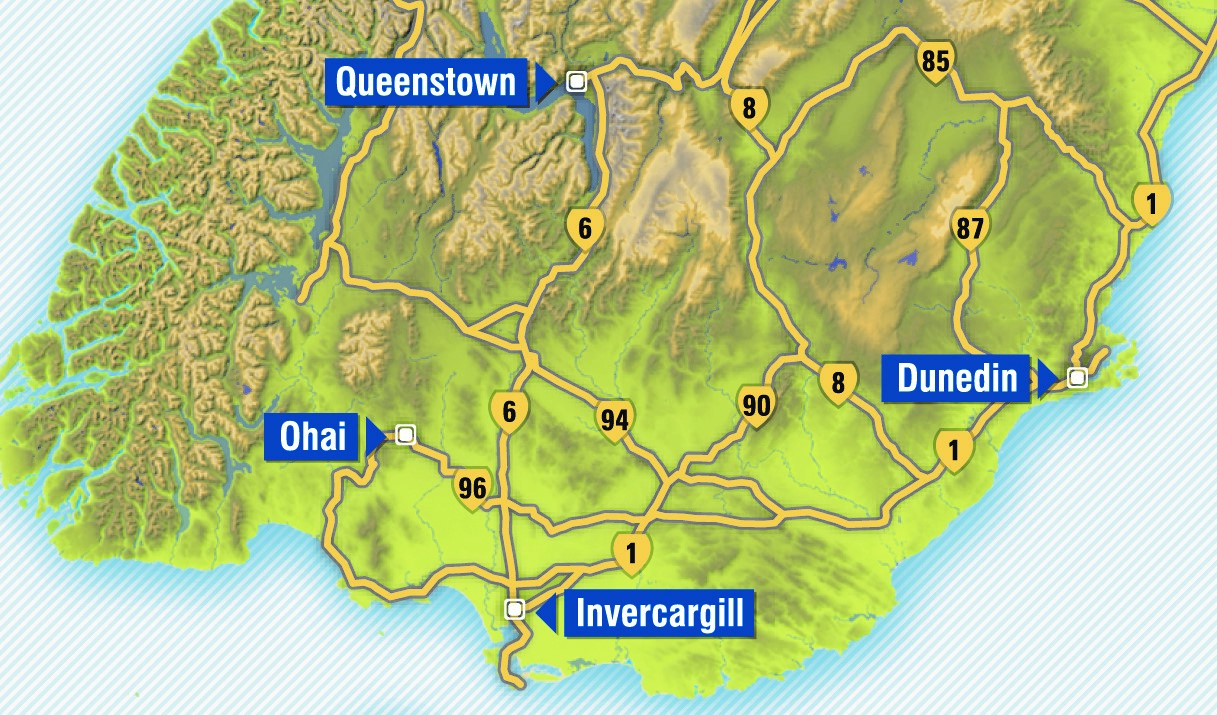 Ohai is located about 80km northwest of Invercargill as the crow flies. Image: ODT