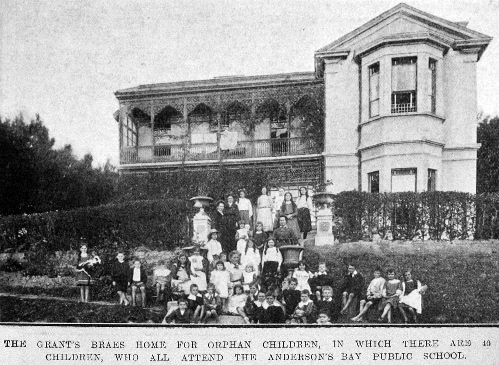 The Grants Braes Home for orphan children, in which there are 40 children who ...