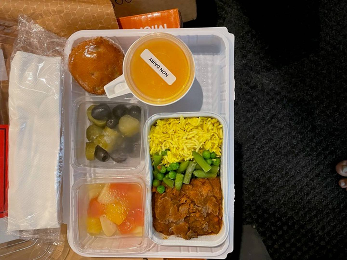 One of the frozen kosher meals Ilan Paz has received in Christchurch MIQ. Photo: Supplied via NZ...