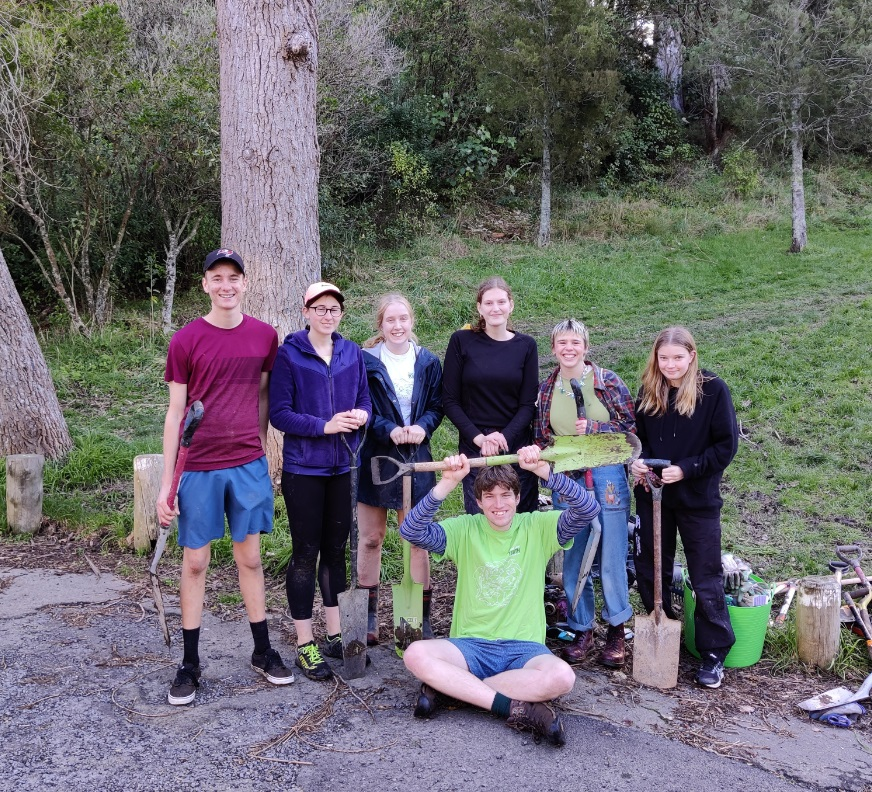 Gemma Marnane helping out at a recent weeding day at Prince of Wales Park in Wellington. Photo:...
