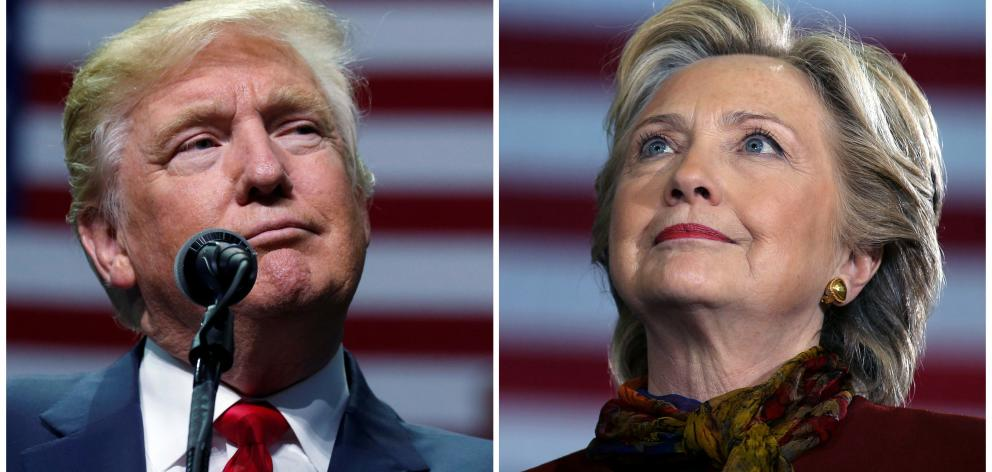Donald Trump and Hillary Clinton are seeking to become the 45th president of the United States and the successor to Democrat Barack Obama. Photo: Reuters