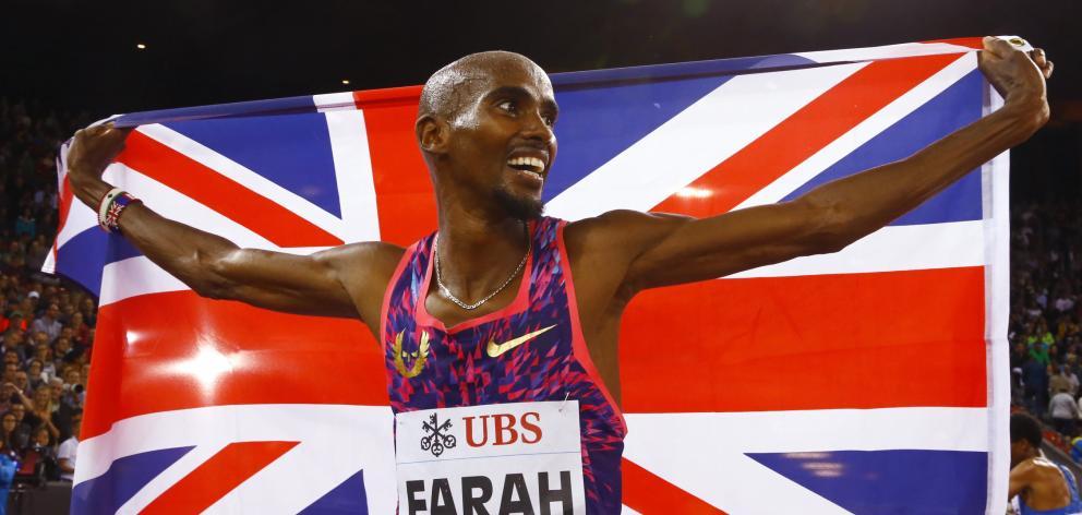 Champion runner Mo Farah. Photo: Reuters