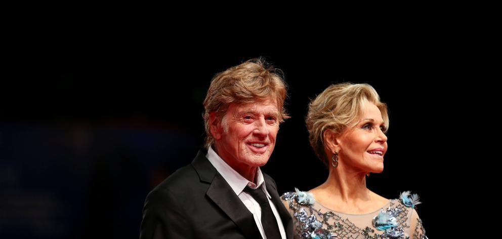 Robert Redford and Jane Fonda in Venice. Photo: Reuters
