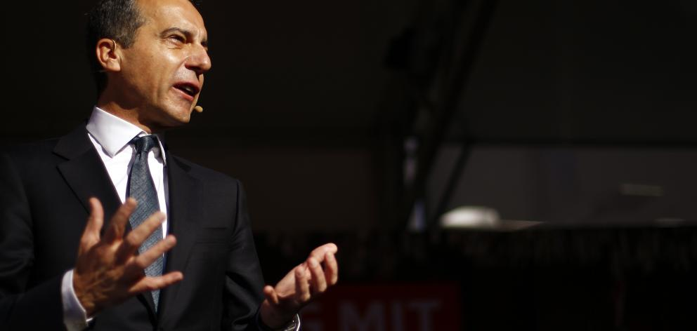 Christian Kern at a campaign rally in Vienna. Photo: Reuters