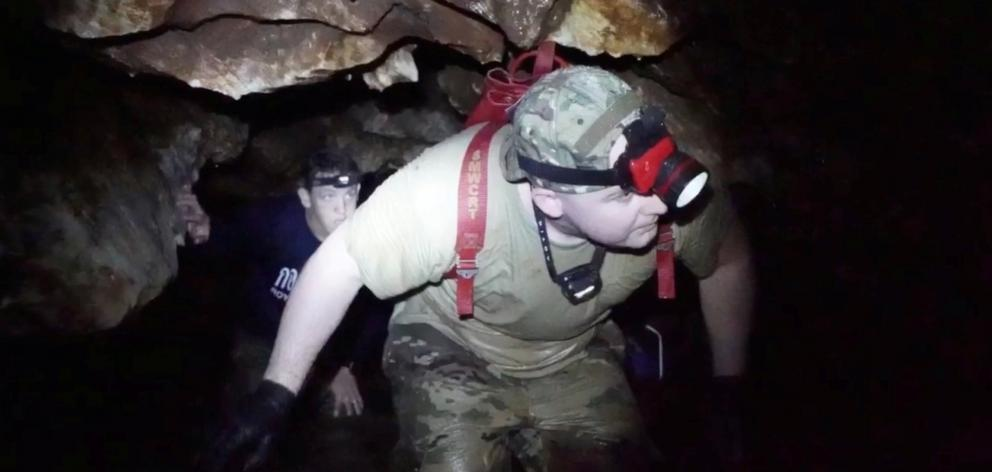 Rescue personnel faced a complex mission to retrieve the 12 boys and their coach. Photo: Thai...