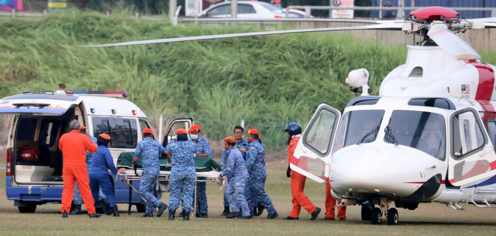 The body of  Nora Anne Quoirin's was recovered by helicopter in Seremban. Photo: Reuters