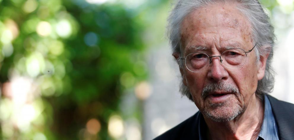 Austrian author Peter Handke at his home in Chaville, near Paris. Photo: Reuters