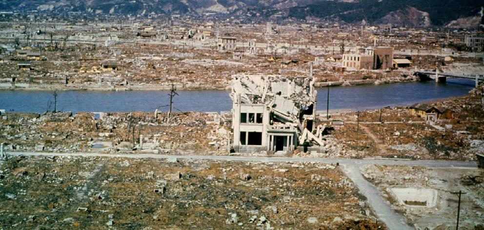A view of damage wrought by the atomic bomb in the city of Hiroshima. Photo: Reuters