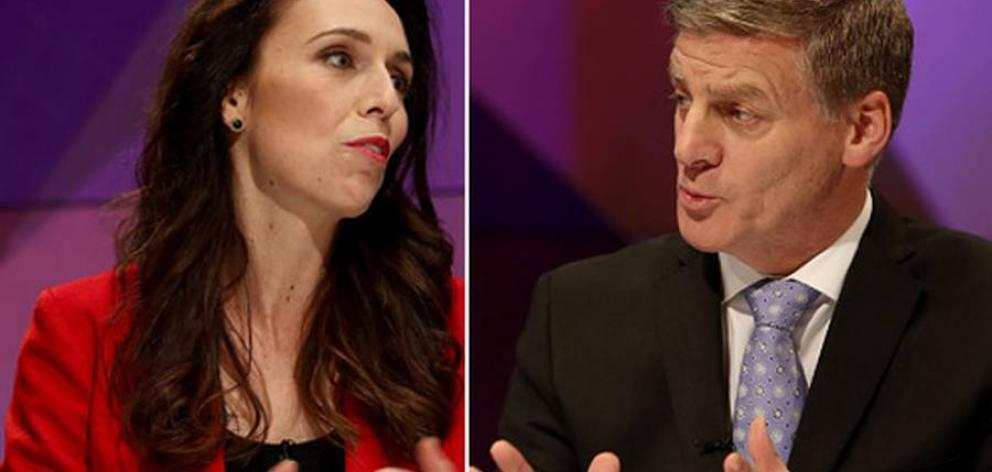 Labour leader Jacinda Ardern and National's Bill English. Photo: Getty Images