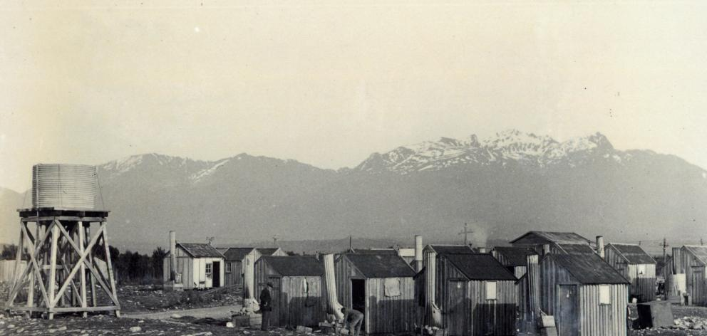 Monowai construction village, circa 1923.