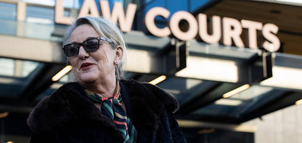 Melanie Reid from Newsroom leaves the Christchurch court house on Tuesday afternoon. Photo:...