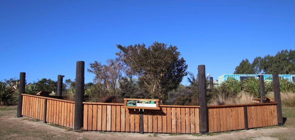 Orokonui Ecosanctuary's new jewelled gecko enclosure.