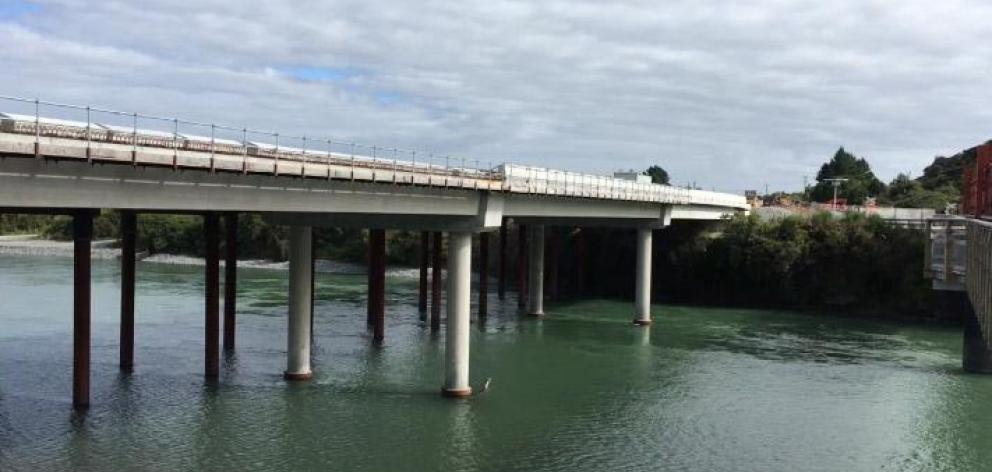 The Taramakau Bridge opened last Sunday. Photo: ODT