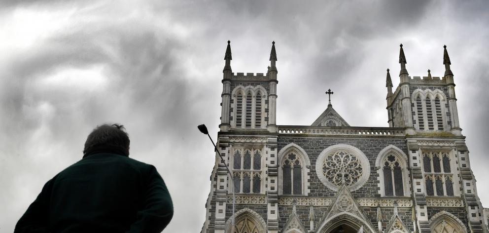 The Dunedin victim of a paedophile priest, outside St Joseph's Cathedral in Dunedin, says lives...