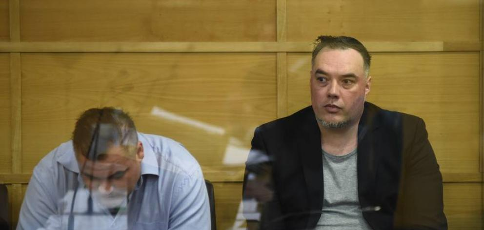 Peter John Chambers (left) and Mark Arona were sentenced in the Tauranga District Court today....