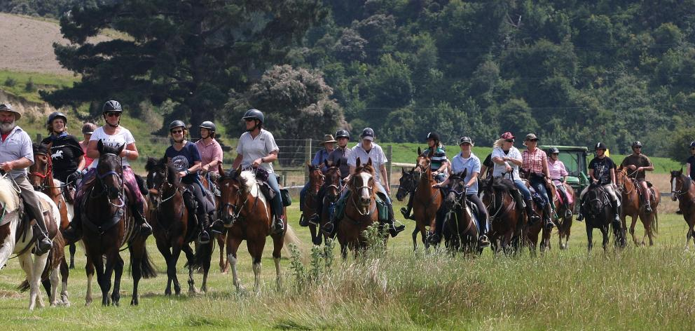 Some of the 120 riders who took part in the 20th annual trek run by the Lawrence Gymkhana Club...