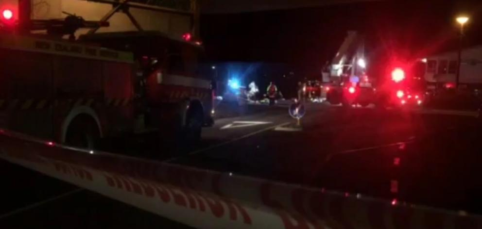 """Witnesses say the car went through a roundabout and """"straight into the drink"""" near Auckland..."""