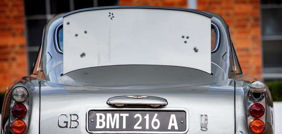 The car features a bulletproof rear screen.