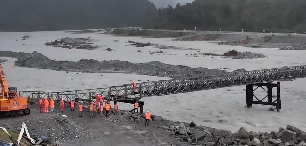 Contractors and Army Engineers have worked hard to restore the bridge. Photo: NZTA