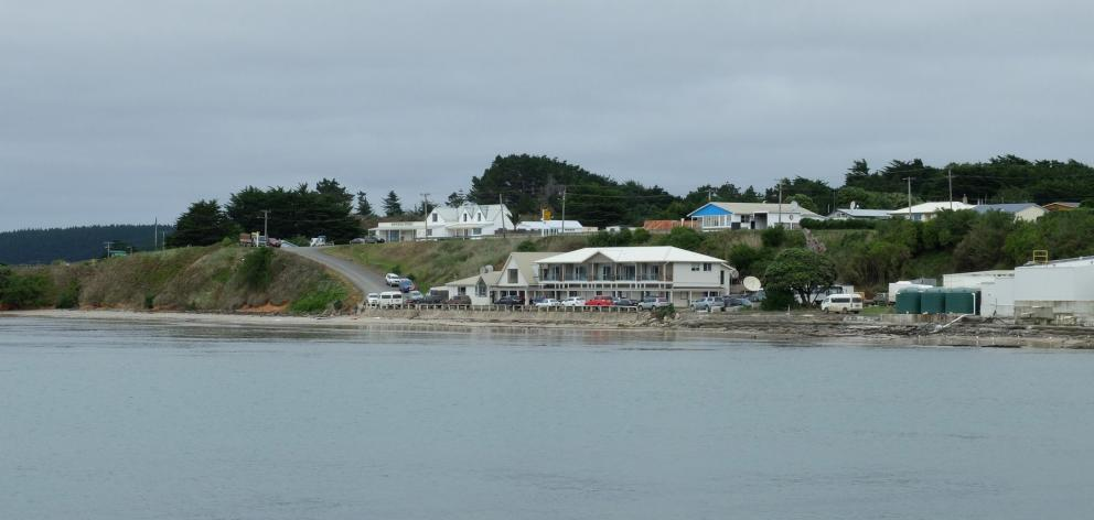 Waitangi township with the Chatham Hotel perched on the waterfront. PHOTO: DAVID THOMSON