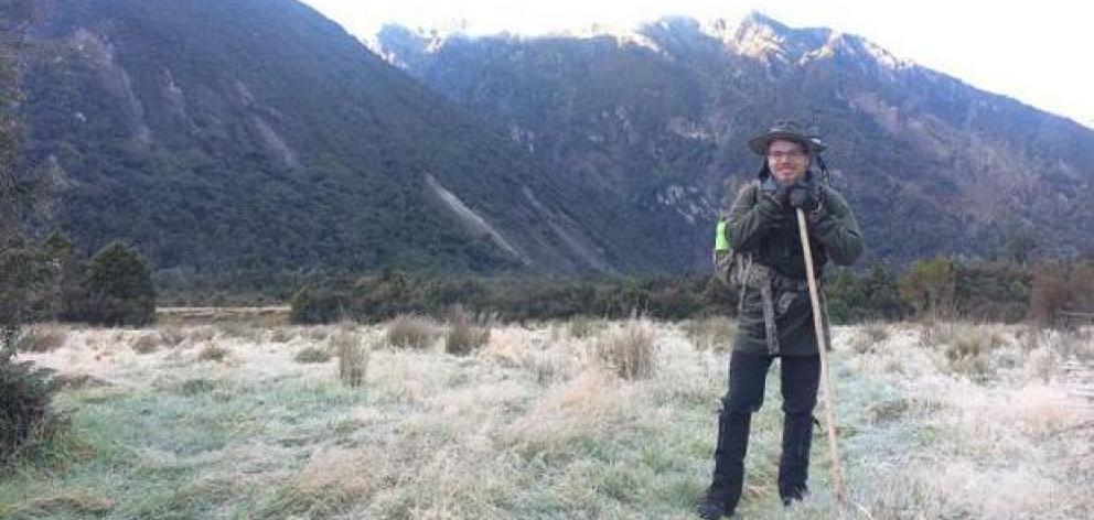 Hans Christian Tornmarck went hunting on May 12. Photo: NZ Police