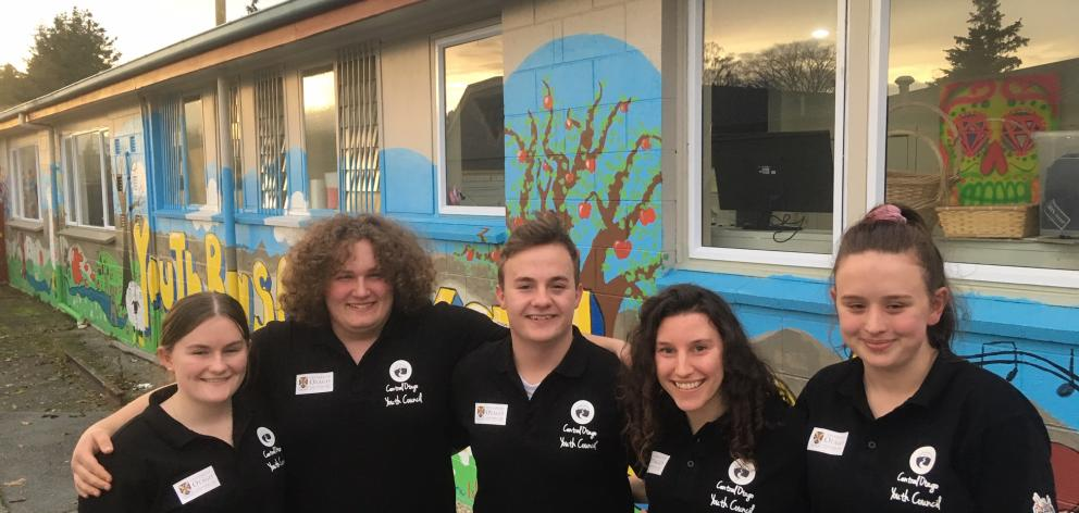 Central Otago Youth Council members (from left) Emily Bennett (18), Ethan Drake (15), Shaun...