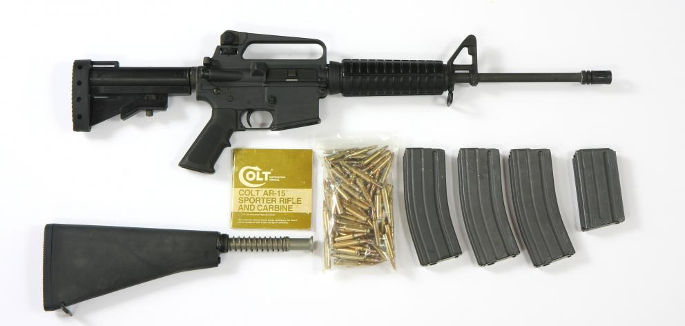 The Colt AR-15 rifle and accessories. Photo: Wikimedia