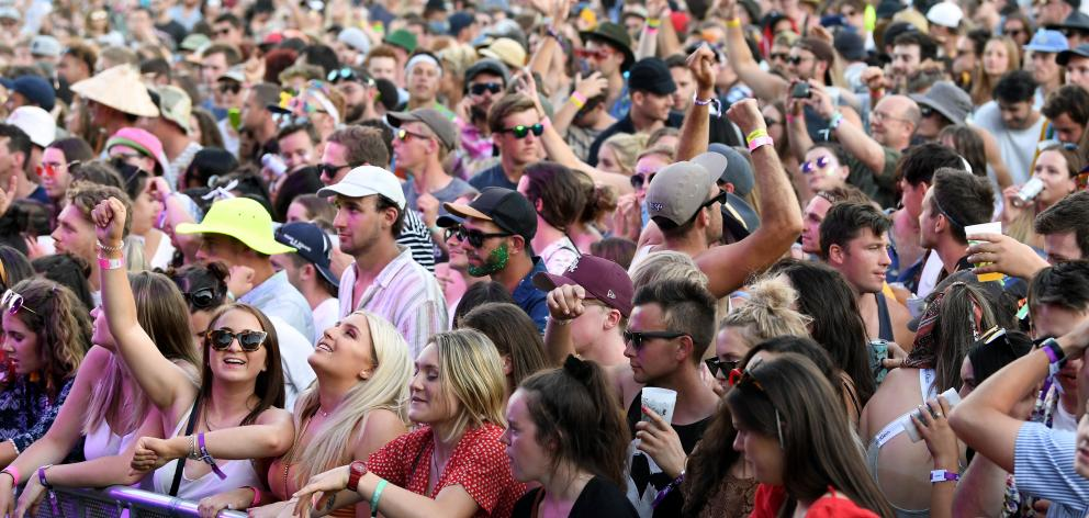 Thousands attended the Rhythm and Alps Music Festival in the Cardrona Valley. Photo: Stephen...