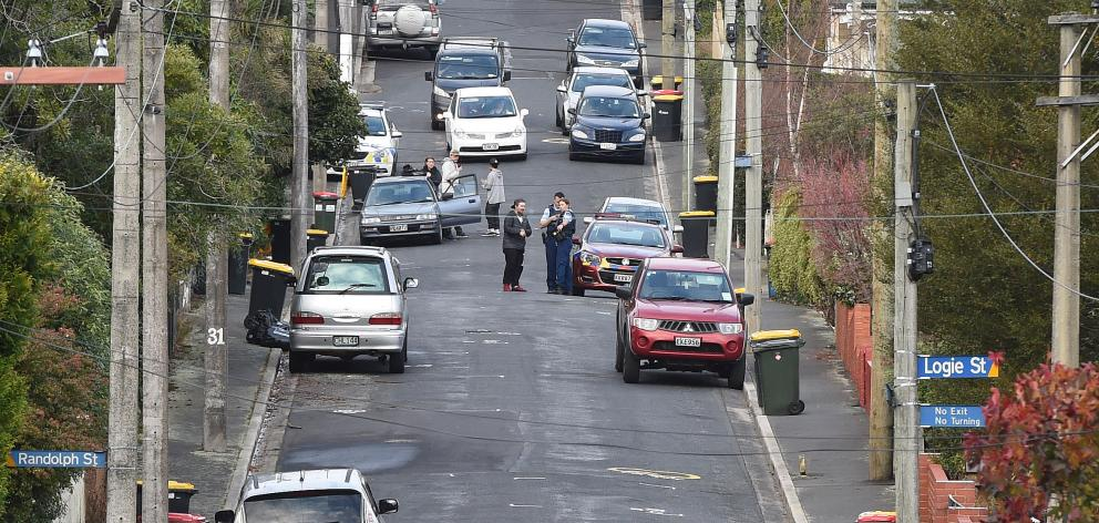 Police were called to Craigleith St this afternoon. Photo: Gregor Richardson