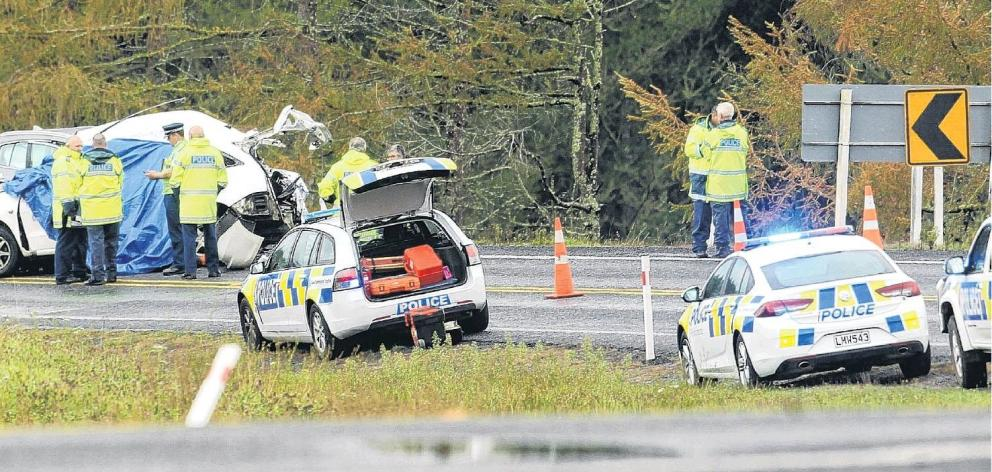 Eight people died following this head-on crash near Taupo in April. Photo: NZME