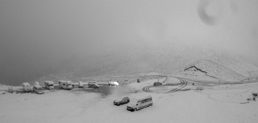 The Crown Range Road this morning. Photo: MetService