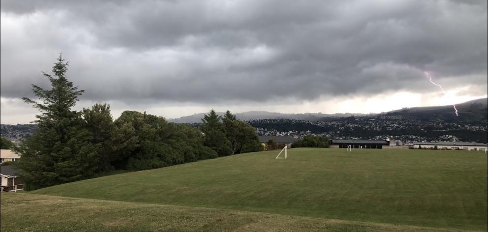 13-year-old Conor Casey captured a lightning strike over Dunedin from Rotary Park Close, in Shiel...